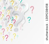 question mark background.... | Shutterstock .eps vector #1309238458