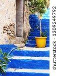 symi island greece   may 2 2018 ... | Shutterstock . vector #1309249792