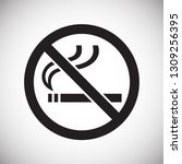 no smoking allowed sign on... | Shutterstock .eps vector #1309256395