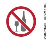 no alcohol allowed sign on... | Shutterstock .eps vector #1309256488