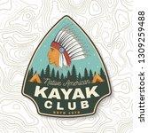 kayak club. vector. concept for ... | Shutterstock .eps vector #1309259488