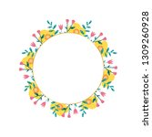 spring wreath  different...   Shutterstock .eps vector #1309260928