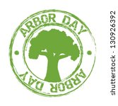 Arbor Day Over White Backgroun...