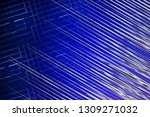 illustration silver and blue... | Shutterstock . vector #1309271032