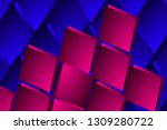 illustration pink and blue... | Shutterstock . vector #1309280722