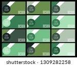 green banner design. abstract...