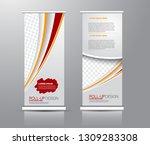 roll up stand design. vertical... | Shutterstock .eps vector #1309283308