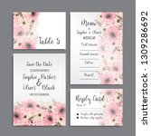 wedding invitation set.... | Shutterstock .eps vector #1309286692