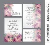 wedding invitation set.... | Shutterstock .eps vector #1309286722