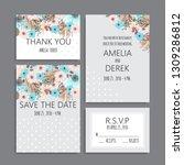 wedding invitation set....   Shutterstock .eps vector #1309286812