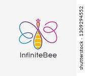 infinite bee line logo   Shutterstock .eps vector #1309294552