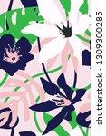 tropical aesthetic exotic... | Shutterstock .eps vector #1309300285