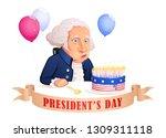 President's Day. Cartoon...