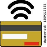 icon denoting contactless... | Shutterstock .eps vector #1309315858