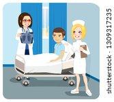 doctor explaining x ray... | Shutterstock . vector #1309317235