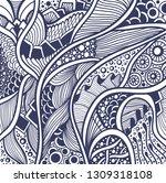 abstract zen tangle zen doodle... | Shutterstock .eps vector #1309318108