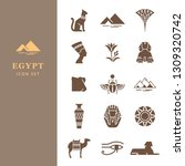 classic elements of egypt.... | Shutterstock .eps vector #1309320742