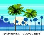summer sunny tropical... | Shutterstock .eps vector #1309335895