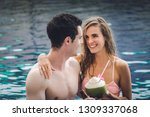 couple in love with bikini and... | Shutterstock . vector #1309337068