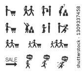 vector set of people go... | Shutterstock .eps vector #1309337458