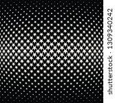 geometric halftone vector... | Shutterstock .eps vector #1309340242