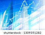 stock market concepts with... | Shutterstock . vector #1309351282