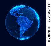 global network concept. world... | Shutterstock . vector #1309352455