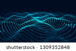 wave of particles. abstract... | Shutterstock . vector #1309352848