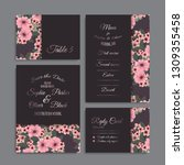 wedding invitation set.... | Shutterstock .eps vector #1309355458