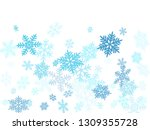 snow flakes falling macro... | Shutterstock .eps vector #1309355728