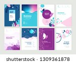 set of brochure  annual report... | Shutterstock .eps vector #1309361878