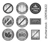 huge collection gluten free bio ... | Shutterstock .eps vector #130936622