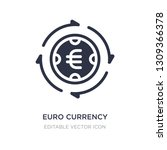 euro currency icon on white... | Shutterstock .eps vector #1309366378