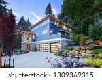 modern house exterior with two... | Shutterstock . vector #1309369315