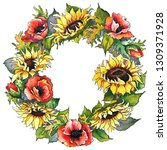 Watercolor Wreath With...
