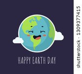 happy earth day greeting card... | Shutterstock .eps vector #1309377415