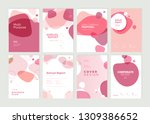 set of brochure  annual report... | Shutterstock .eps vector #1309386652