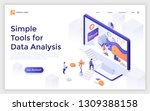 landing page with giant... | Shutterstock .eps vector #1309388158
