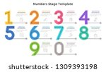 colorful numbers  figures or... | Shutterstock .eps vector #1309393198