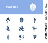 flower  floral  plant icon set... | Shutterstock .eps vector #1309393462