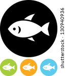 little fish vector icon | Shutterstock .eps vector #130940936