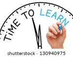 hand writing time to learn... | Shutterstock . vector #130940975