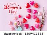 happy international women s day ... | Shutterstock . vector #1309411585