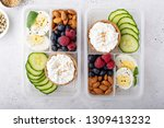 lunch or snack box with high... | Shutterstock . vector #1309413232
