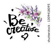 be creative vector lettering... | Shutterstock .eps vector #1309418095