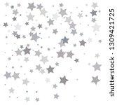 silver glitter falling stars....   Shutterstock .eps vector #1309421725