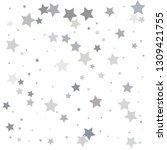 silver glitter falling stars....   Shutterstock .eps vector #1309421755
