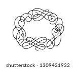flourish oval frame... | Shutterstock .eps vector #1309421932