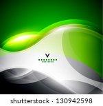 Green Magic Wavy Shapes Design