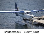 a seaplane at dock in vancouver | Shutterstock . vector #130944305